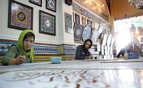 Visiting Patterns and Colors: Tile-work Tour in Tehran