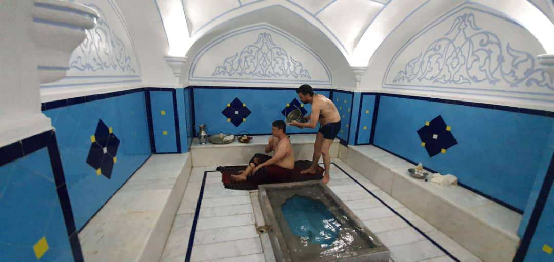 Relaxing at the Traditional Iranian Bathhouse